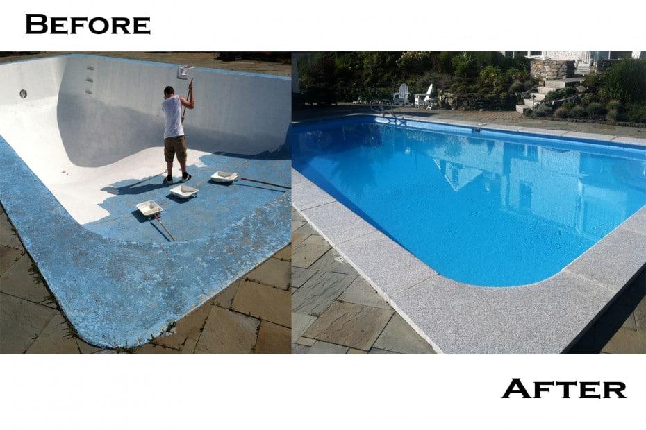 Acid Wash Gunite Pool : Ledgewater pools gunite tile renovation